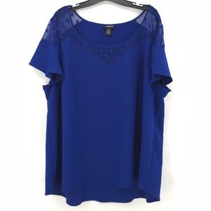NWOT Torrid royal blue short sleeve blouse